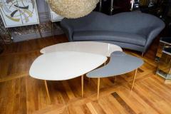 Studio Glustin Set of Three Mirror Top Tables by Studio Glustin - 1017206