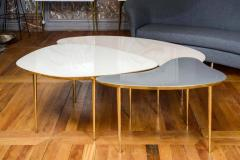 Studio Glustin Set of Three Mirror Top Tables by Studio Glustin - 1017209