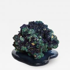 Studio Greytak Azurite on Cast Glass Base by Studio Greytak - 1438506