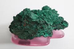 Studio Greytak Malachite Botryoidal on Cast Glass Base - 1435192