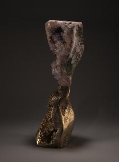 Studio Greytak Mirror Lake Amethyst and Cast Bronze Sculpture - 2045487
