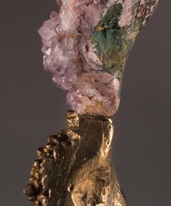 Studio Greytak Mirror Lake Amethyst and Cast Bronze Sculpture - 2045489