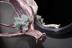 Studio Greytak Pink Chromed Moose Paddle Mirror - 1924719