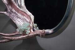 Studio Greytak Pink Chromed Moose Paddle Mirror - 1924720
