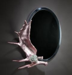 Studio Greytak Pink Chromed Moose Paddle Mirror - 1924722