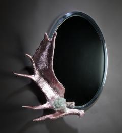 Studio Greytak Pink Chromed Moose Paddle Mirror - 1924723