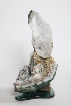 Studio Greytak Selenite on Cast Glass Base by Studio Greytak - 1435942