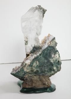 Studio Greytak Selenite on Cast Glass Base by Studio Greytak - 1435943