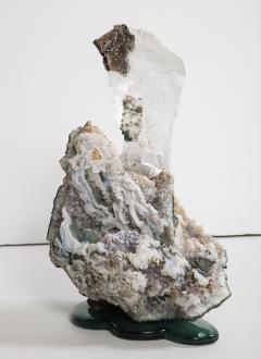 Studio Greytak Selenite on Cast Glass Base by Studio Greytak - 1435944