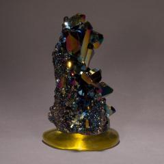 Studio Greytak Studio Greytak Titanium Quartz on Cast Glass Iridescent Quartz Yellow Glass - 1459495