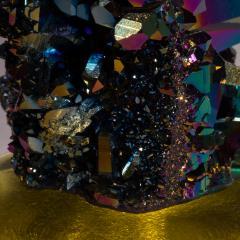 Studio Greytak Studio Greytak Titanium Quartz on Cast Glass Iridescent Quartz Yellow Glass - 1459501