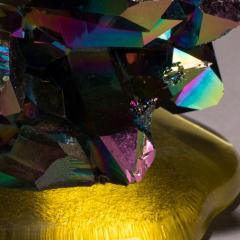 Studio Greytak Studio Greytak Titanium Quartz on Cast Glass Iridescent Quartz Yellow Glass - 1459502