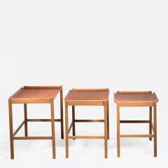 Svenska M belfabrikerna Axel Larsson set of 3 nesting tables by SMF Bodafors - 1491037