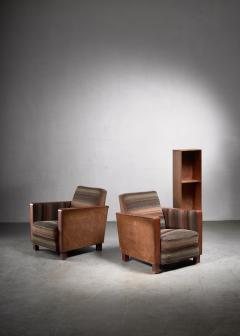Svenskt Tenn Bjorn Tragardh pair of easy chairs in original upholstery - 1845951