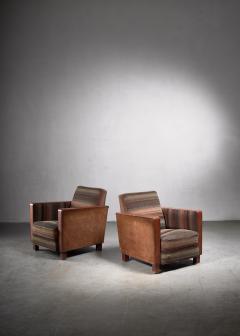 Svenskt Tenn Bjorn Tragardh pair of easy chairs in original upholstery - 1845952