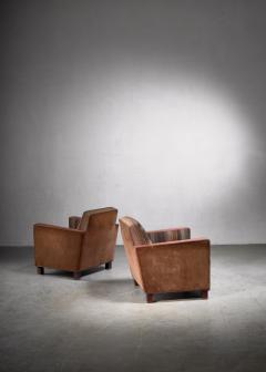 Svenskt Tenn Bjorn Tragardh pair of easy chairs in original upholstery - 1845953