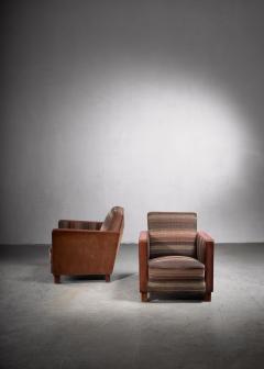 Svenskt Tenn Bjorn Tragardh pair of easy chairs in original upholstery - 1845954