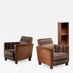 Svenskt Tenn Bjorn Tragardh pair of easy chairs in original upholstery - 1847124