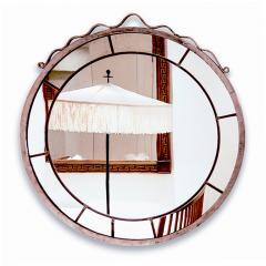 Svenskt Tenn Round Swedish Grace Hand Blown Mirror in the Style of Svenskt Tenn - 951301