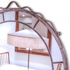 Svenskt Tenn Round Swedish Grace Hand Blown Mirror in the Style of Svenskt Tenn - 951302