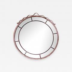 Svenskt Tenn Round Swedish Grace Hand Blown Mirror in the Style of Svenskt Tenn - 952662