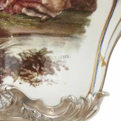 T tard Fr res Three piece silver mounted porcelain garniture by T tard Fr res - 1287328