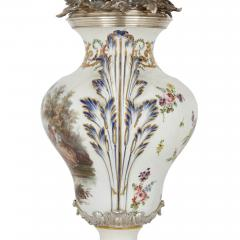 T tard Fr res Three piece silver mounted porcelain garniture by T tard Fr res - 1287333