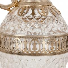 T tard Fr res Two silver mounted cut glass claret jugs by T tard Fr res - 1611135