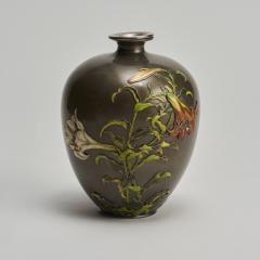 Takashoki An antique Japanese multi metal Shibuichi vase - 1296320