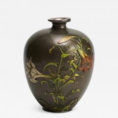 Takashoki An antique Japanese multi metal Shibuichi vase - 1298541