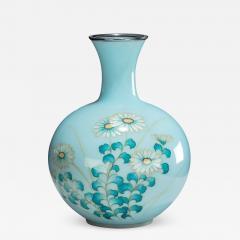 Tamura A Showa period gin bari cloisonn vase by Tamura - 745492