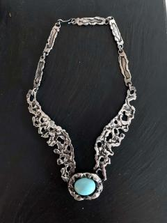 Tane Orfebres A Mexican Modernist Sterling Silver Necklace by Tane Orfebres - 1001114
