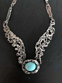 Tane Orfebres A Mexican Modernist Sterling Silver Necklace by Tane Orfebres - 1001115