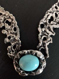 Tane Orfebres A Mexican Modernist Sterling Silver Necklace by Tane Orfebres - 1001116