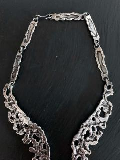 Tane Orfebres A Mexican Modernist Sterling Silver Necklace by Tane Orfebres - 1001117
