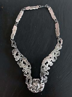 Tane Orfebres A Mexican Modernist Sterling Silver Necklace by Tane Orfebres - 1001119