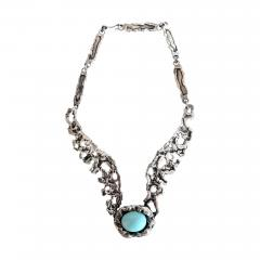 Tane Orfebres A Mexican Modernist Sterling Silver Necklace by Tane Orfebres - 1002066