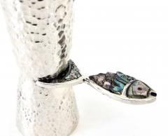 Taxco Los Castillos Taxco Mexico Sterling Silver Liquor Jigger With Abalone Handle - 792878