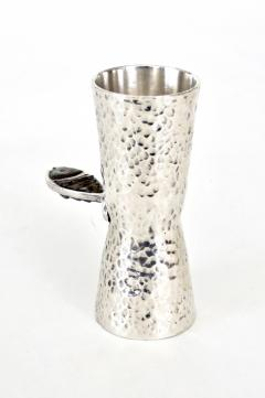Taxco Los Castillos Taxco Mexico Sterling Silver Liquor Jigger With Abalone Handle - 792879