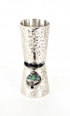 Taxco Los Castillos Taxco Mexico Sterling Silver Liquor Jigger With Abalone Handle - 792885