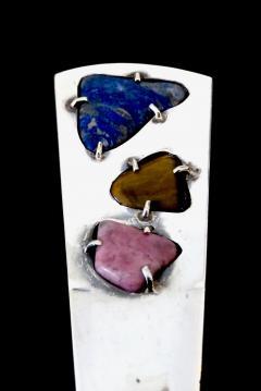 Taxco Sterling Silver Taxco Mexico Semi Precious Stones Letter Opener - 818514