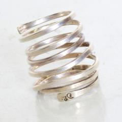 Taxco Taxco Sterling Silver Coiled Spiral Wrap Ring 1970s Mexican Modernism - 1983569