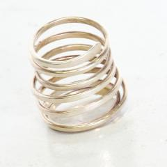 Taxco Taxco Sterling Silver Coiled Spiral Wrap Ring 1970s Mexican Modernism - 1983570