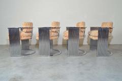 Thayer Coggin Exceptional Set of 4 Milo Baughman for Thayer Coggin Chrome Barrel Dining Chairs - 1826213