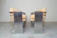 Thayer Coggin Exceptional Set of 4 Milo Baughman for Thayer Coggin Chrome Barrel Dining Chairs - 1826214