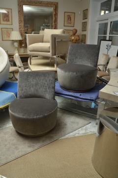 Thayer Coggin Pair of Thayer Coggin Slipper Chairs on Swivel Bases - 1331525