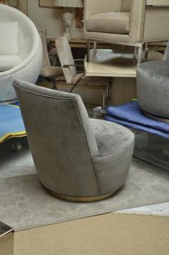 Thayer Coggin Pair of Thayer Coggin Slipper Chairs on Swivel Bases - 1331526