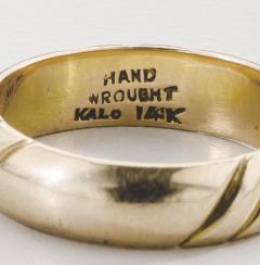 The Kalo Shop American Arts Crafts Kalo Gold Band - 291890