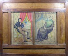 The Reading Artist Watercolor Portrait Pair of Jonathan Anna Maria DeLong - 1151468