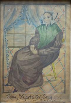 The Reading Artist Watercolor Portrait Pair of Jonathan Anna Maria DeLong - 1151472